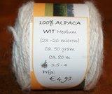 Alpacawol 50 gr wit_