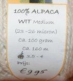 Alpacawol 100 gram wit_