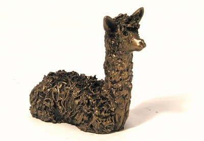 Alpaca cria zittend