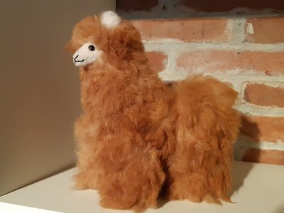 Alpaca knuffel licht bruin