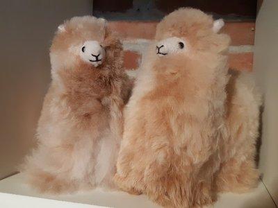 Alpaca knuffel beige