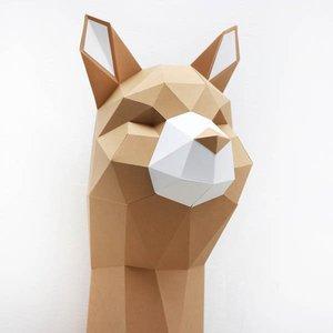 Alpaca 3D bouwplaat